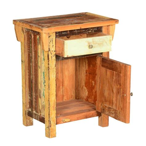 Rustic Wood Nightstand by Rustic 9 Square Reclaimed Wood Nightstand End Table Cabinet