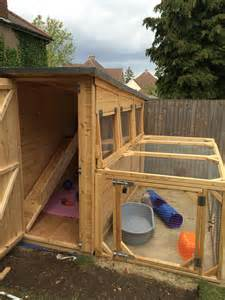 Best Indoor Rabbit Hutch 8x4x6 5ft Rabbit Shed With A 8x4x3ft Rabbit Run