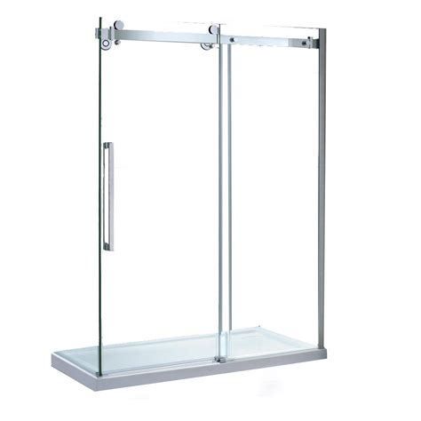 Ove Shower Door Ove Decors 15ska Sier60 001wm 60 Inch Tempered Clear Glass Shower Kit With Glass Panels