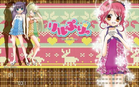 otogi calendar hime chen otogi chikku idol lilpri wallpaper 1177944