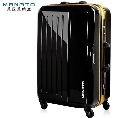manato 24 inch unisex rolling bagage suitcase abs travel