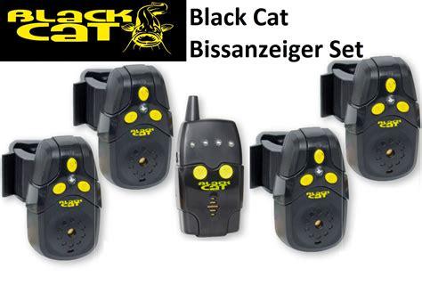 Set Black Cat Hdm black cat bissanzeiger set 4 black cat funkbissanzeiger 1 receiver welsangeln ebay