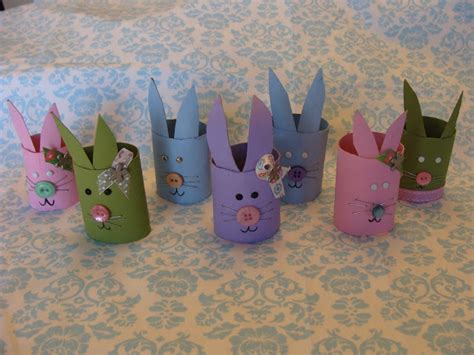 Easter Toilet Paper Roll Crafts - preschool crafts for recycled toilet roll easter