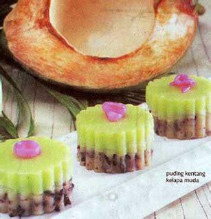 membuat puding kentang puding kentang kelapa muda