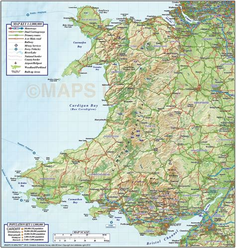 printable road map of wales uk printable map of wales pictures to pin on pinterest