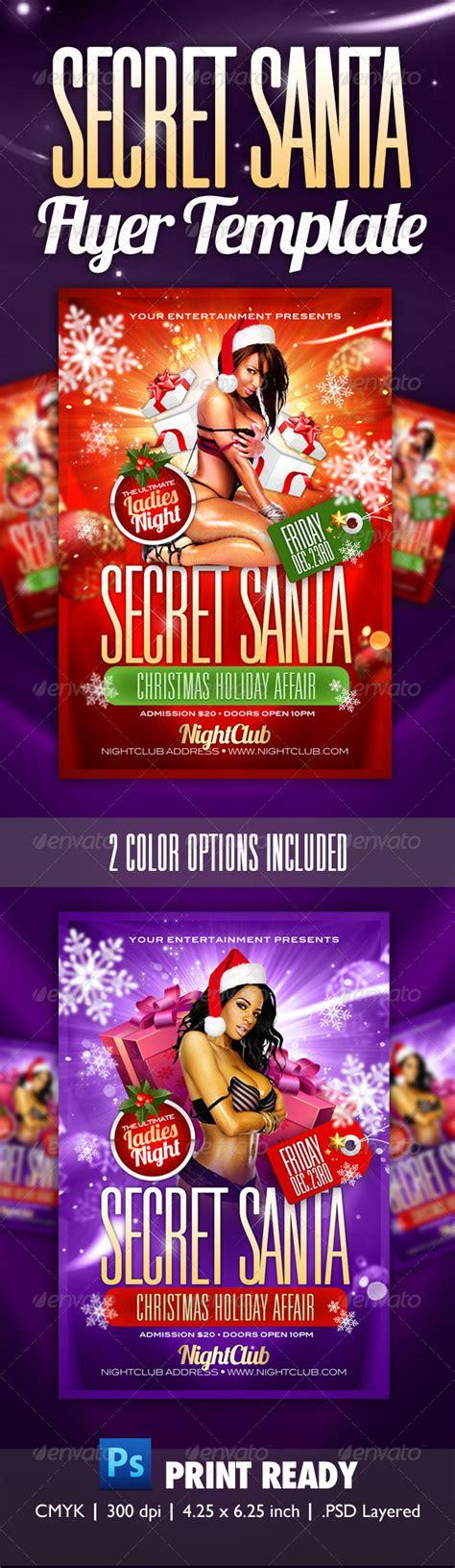 Secret Santa Party Flyer Template Print Ad Templates Secret Santa Flyer Templates