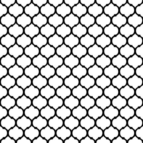transparent printable fabric moroccan trellis black background 09 p0102 tote bag for