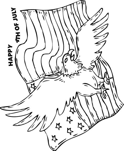 american flag and eagle coloring page bald eagle and american flag coloring pages hellokids com
