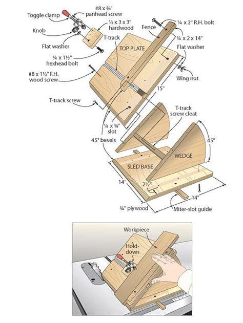 workshop jig plans  pinterest table  sled