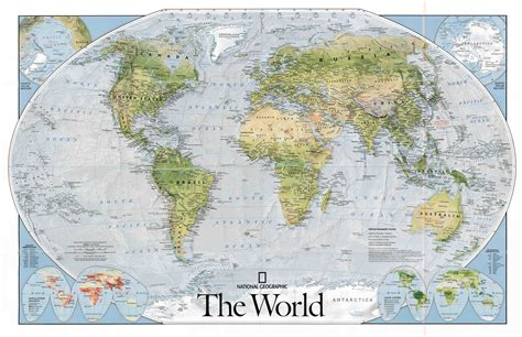 National Search Geographic World Map