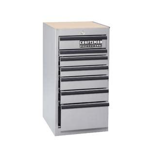 Craftsman Side Cabinet by Craftsman 18 In 7 Drawer Side Cabinet Silver