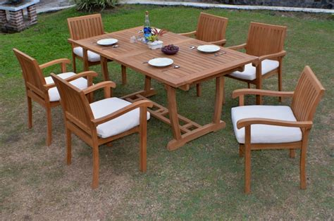 napa patio furniture 7 pc dining teak set garden outdoor patio furniture napa