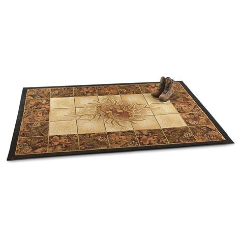 Camouflage Area Rugs Camo Antler Area Rug 191101 Rugs At Sportsman S Guide