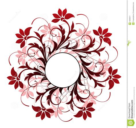 Flower Pattern In Circle | circle and flower pattern stock image image 13208311