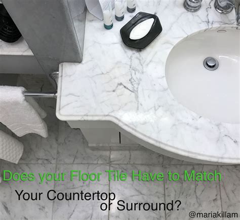 Does your Floor Tile Have to Match your Countertop or