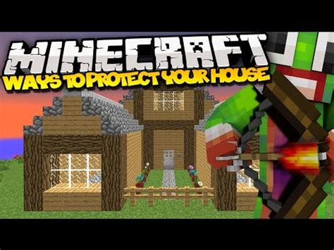 how to protect your house in minecraft top 5 ways to protect your house minecraft youtube
