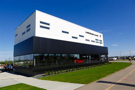 Canadian Auto Dealer by Lamborghini Calgary Opens In Style Canadian Auto Dealer