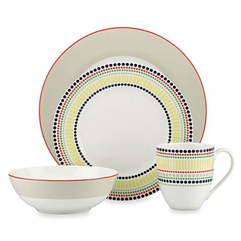 kate spade dinnerware kate spade new york hopscotch drive porcelain dinnerware collection in taupe bed bath beyond