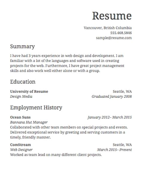 simple resume for simple resume jennywashere