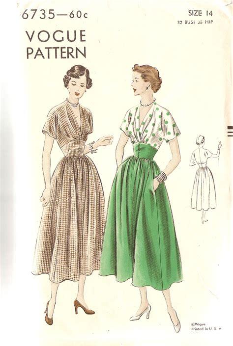 jersey dress pattern vogue vogue 6735 vintage sewing patterns fandom powered by wikia