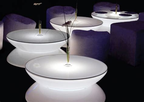 Lighted Table by Translucent Led Light Tables Lounge From Moree Digsdigs