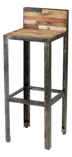 hauteur bar cuisine am駻icaine tabourets cuisine industriel vintage noir bois d 233 co