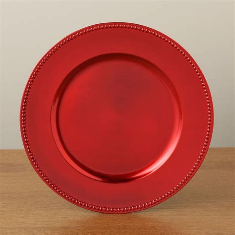Top Selling Home Decor Items elegant holiday charger plates in red gold new plates