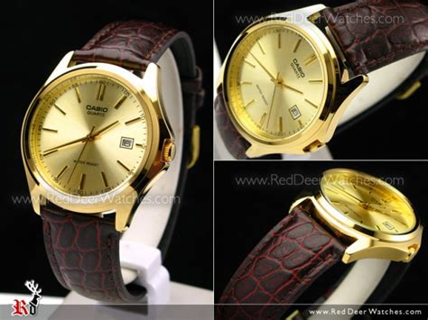 Casio Mtp 1183q 9a For buy casio s watches fashion leather gold mtp 1183q 9a buy watches casio deer
