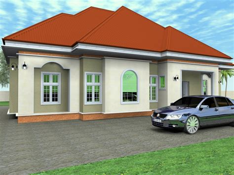 Unique Bungalow House Plans by 4 Bedroom Bungalow House Unique 4 Bedroom House Plans 3