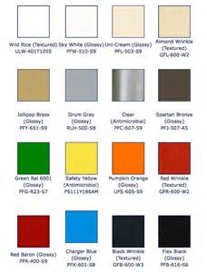 powder coat colors color powder coating