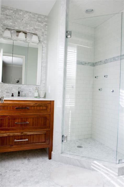 backsplash shower marble brick tile design decor photos pictures ideas