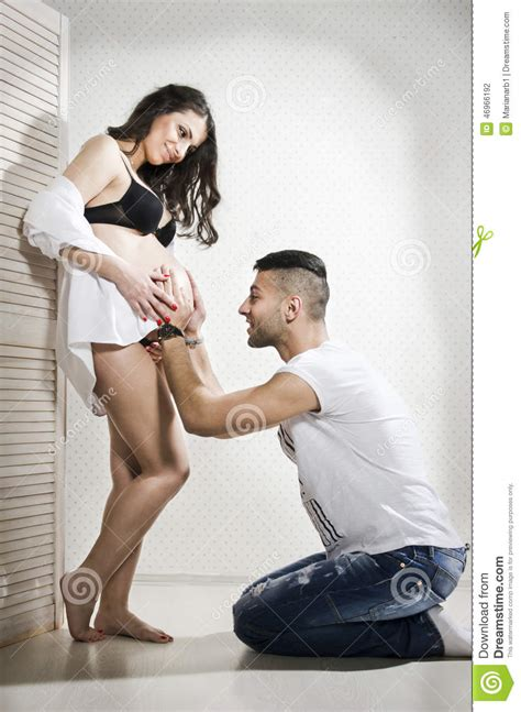 wife crossdresses beautiful husband beautiful young pregnant family stock photo image 46966192