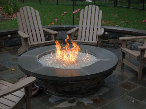 Outdoor Gas Fire Pit With Glass Glass Pits