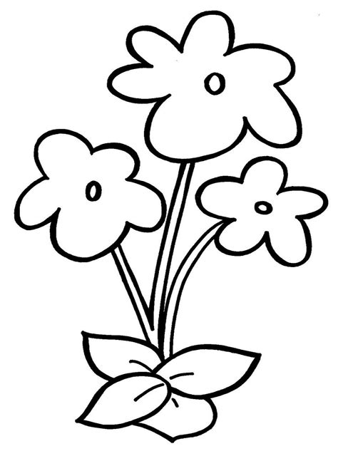 Simple Drawing For Kids Flowers Easy Drawing Of Bunch Of Flowers How To Draw A Bouquet Of Simple Drawing For Kid