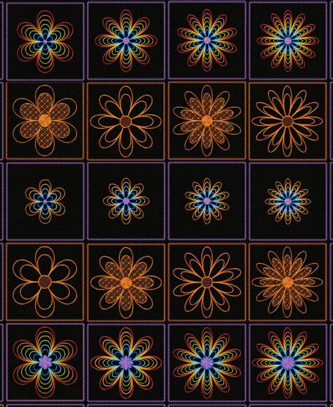 quilt pattern v embroidery designs rainbow flowers quilt block machine embroidery designs ebay