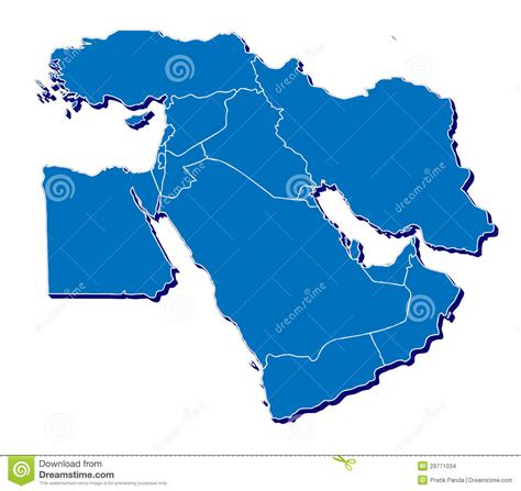 middle east map vektor middle east map in 3d stock illustration image of