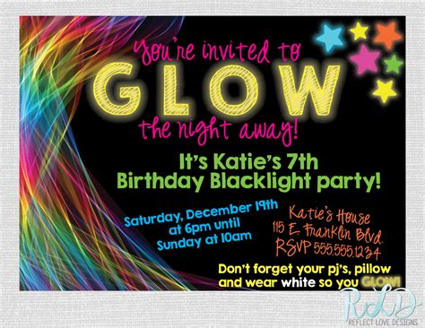 black light party invitations blacklight party invitations www imgkid com the image