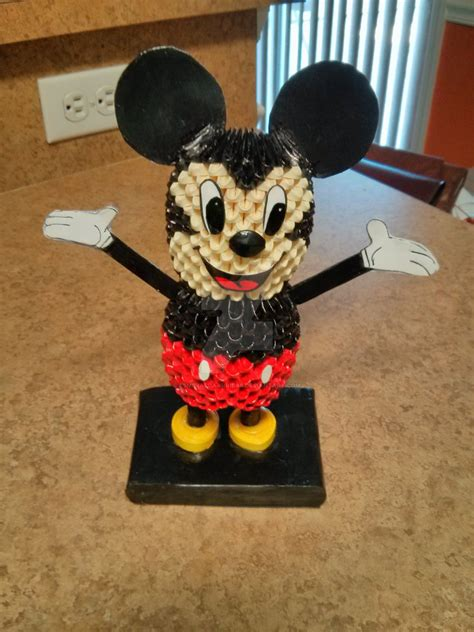 origami mickey mouse 3d origami mickey mouse by esmeraldaarribas on deviantart