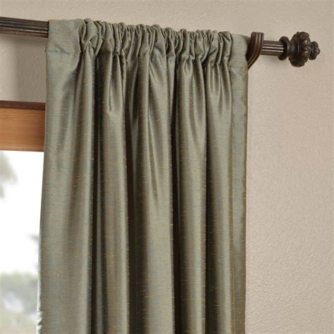 blue faux silk curtains blue nile yarn dyed faux dupioni silk curtains drapes