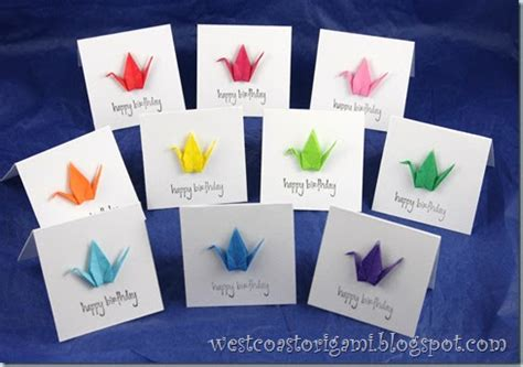 Origami Cards To Make - west coast origami projects origami mini cards