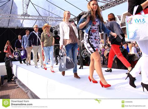 Are Fashion Shows Really Going Out Of Style by Models Go On Catwalk At Fashion Show Editorial Image