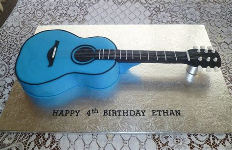 acoustic guitar cake template rozzies cakes