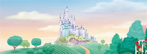 disney wallpaper vector handdrawn cartoon disney castle background hand painted