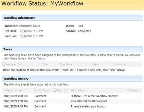 sharepoint workflow history list show workflow history in workflow status column in list