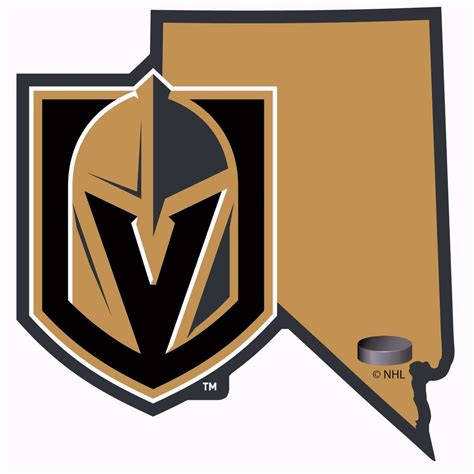 Auto Decals Las Vegas by Vegas Golden Knights Home State Vinyl Auto Decal Nhl