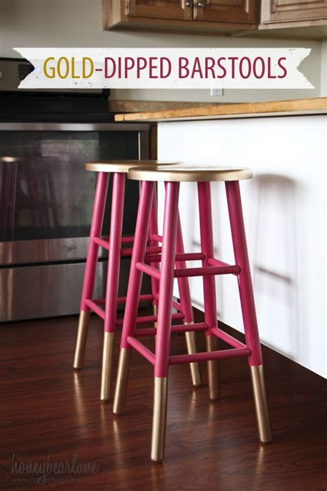 Free Bar Stools Craigslist by Gold Dipped Barstools Decor Hacks