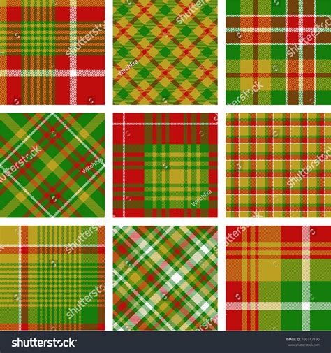 plaid pattern en espanol big plaid pattern set stock vector illustration 109747190