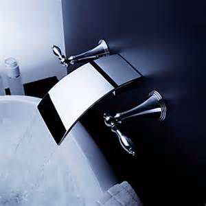 contemporary brass waterfall bathroom sink faucet wall