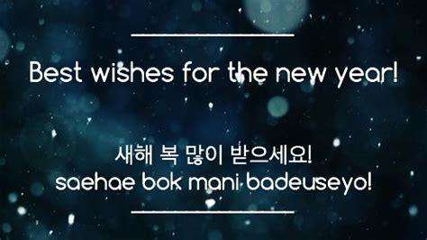 top  korean phrases  holidays christmas  years