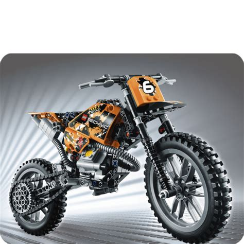 technic motocross bike technic moto cross bike 42007 toys zavvi com